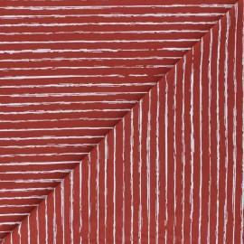 Tissu jersey White Stripes - terracotta x 10cm