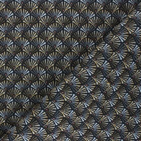Tissu Jacquard Arcadia - or x 10cm