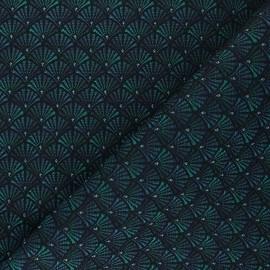 Jacquard fabric - emerald green Arcadia x 10cm