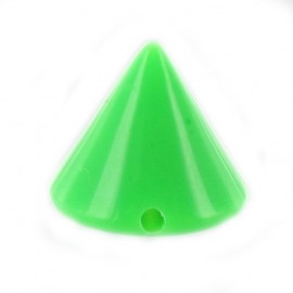 Sew-on cone - fluorescent green