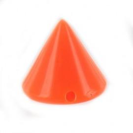 Sew-on cone - fluorescent orange