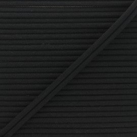 11mm Double Piping - black Henriette x 1m