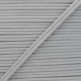 11mm Double Piping - light grey Henriette x 1m