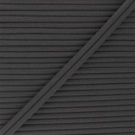 11mm Double Piping - anthracite grey Henriette x 1m