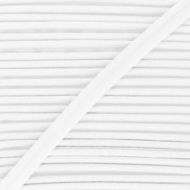 Passepoil tissé 14mm Antoine - blanc x 1m