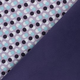 Patterned Softshell fabric  - parma Diagonal Dots x 10cm