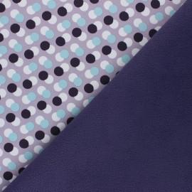 Tissu Softshell Diagonal Dots - parme x 10cm