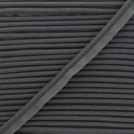 14mm Woven Piping - anthracite Antoine x 1m