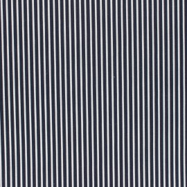 Poppy Coated cretonne cotton fabric - night blue Stripes x 10cm