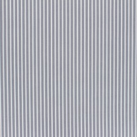 Poppy Coated cretonne cotton fabric - grey Stripes x 10cm