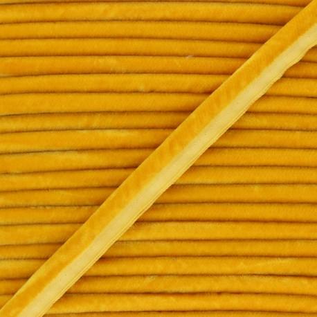 16mm Velvet Piping - honey yellow Clovis x 1m
