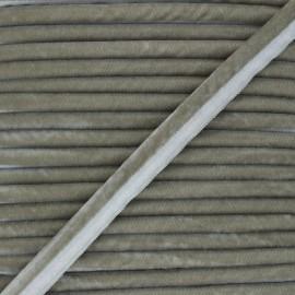 Velvet Piping - taupe grey Clovis x 1m