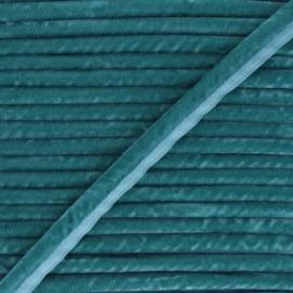 Passepoil velours 16mm Clovis - bleu canard x 1m