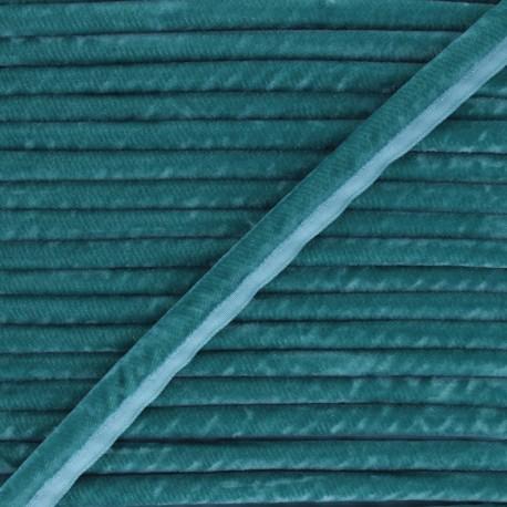 16mm Velvet Piping - duck blue Clovis x 1m