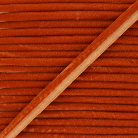 16mm Velvet Piping - rust Clovis x 1m