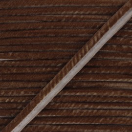 Passepoil velours 16mm Clovis - marron x 1m