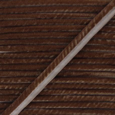 16mm Velvet Piping - brown Clovis x 1m