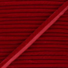 16mm Velvet Piping - red Clovis x 1m