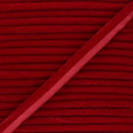Passepoil velours 16mm Clovis - rouge x 1m