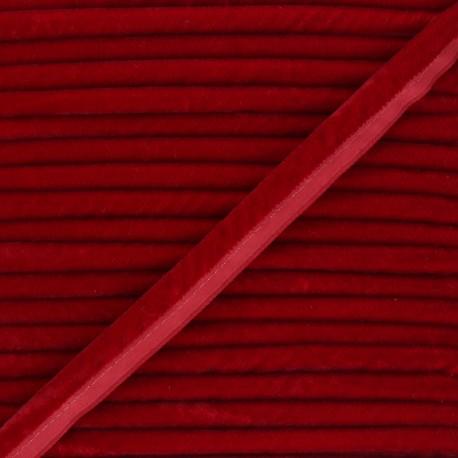 16mm Velvet Piping - red Clovis x 1m