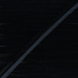 Passepoil velours 16mm Clovis - noir x 1m