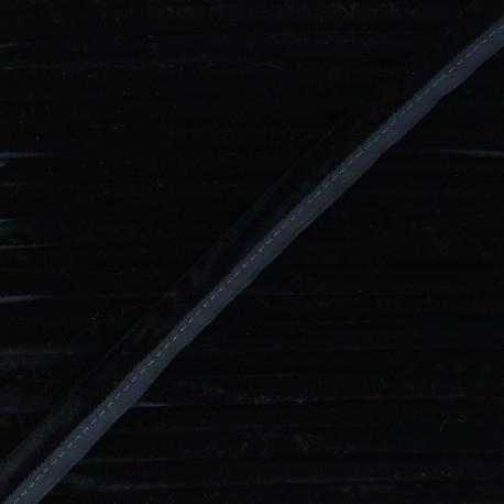 16mm Velvet Piping - black Clovis x 1m