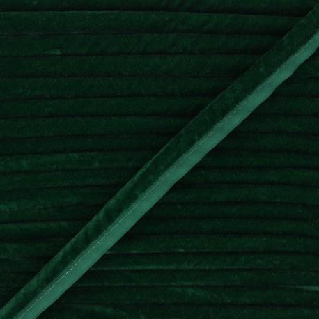 16mm Velvet Piping - green Clovis x 1m