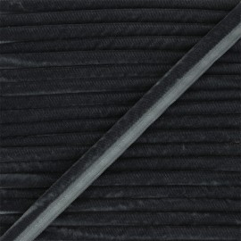 16mm Velvet Piping - anthracite grey Clovis x 1m