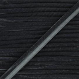 Passepoil velours 16mm Clovis - anthracite x 1m