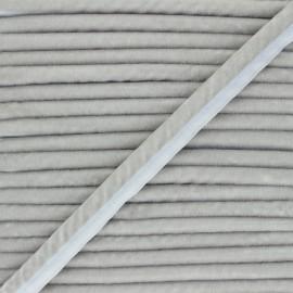 Passepoil velours 16mm Clovis - gris souris x 1m