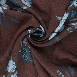Patterned Viscose Fabric - brown Salome x 10cm