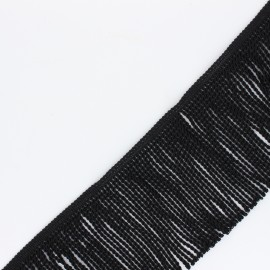90mm Fringe Trimmings - black Sixtine x 1m