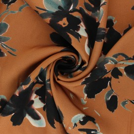 Patterned Viscose Fabric - camel Osmérie x 10cm