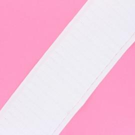 Ruflette cartouchière pour rideaux - blanc x 1m