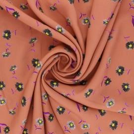 Patterned Viscose Fabric - tea pink Orianne x 10cm