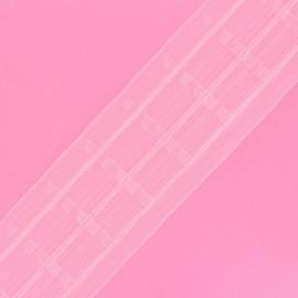 Ruflette pour rideaux - transparent x 1m