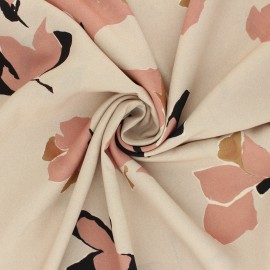 La Maison Victor satiny light polyester fabric - greige Suzalie x 10cm