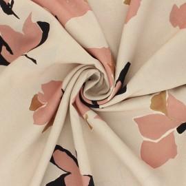 Tissu polyester léger satiné La Maison Victor Suzalie - grège x 10cm