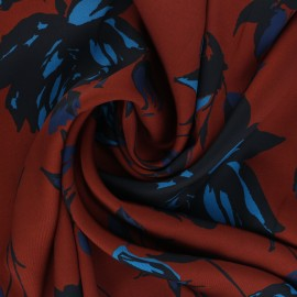 Satiny light polyester fabric - mahogany brown Solème x 10cm