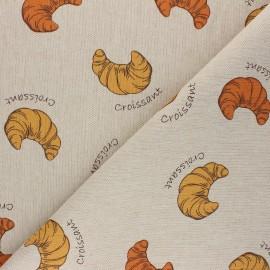 Linen aspect polycotton fabric - natural Croissant x 10cm