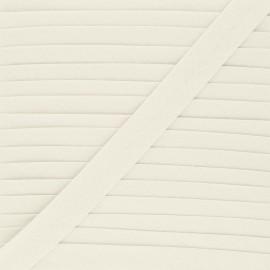 Biais tout textile 20 mm - grège x 1m