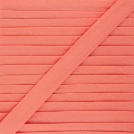Biais tout textile 20 mm - saumon x 1m