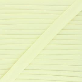 Biais tout textile 20 mm - jaune paille x 1m