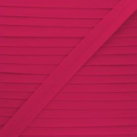 Biais tout textile 20 mm - fuchsia x 1m