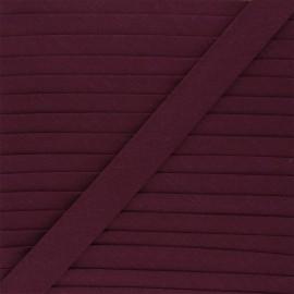 Biais tout textile 20 mm - bordeaux x 1m