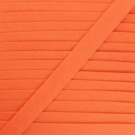 Biais tout textile 20 mm - orange x 1m