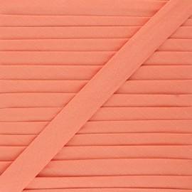 Biais tout textile 20 mm - corail x 1m