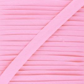 Biais tout textile 20 mm - rose ballerine x 1m