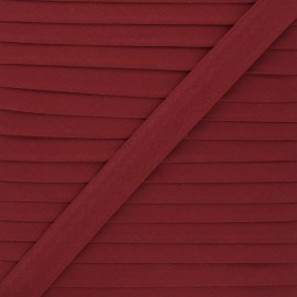 Biais tout textile 20 mm - rouge tomette x 1m