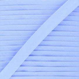 Biais tout textile 20 mm - pervenche x 1m